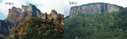 妙義山と荒船山